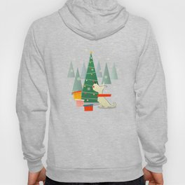 Little White Christmas Westie Hoody