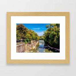 DE - Bavaria : Isar canal Framed Art Print