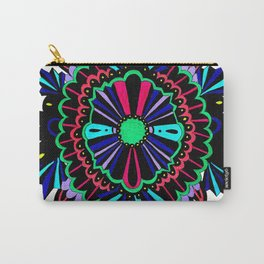 Neon Lace Peony Carry-All Pouch