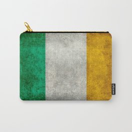 Republic of Ireland Flag, Vintage grungy Carry-All Pouch