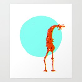 Tall Monster Art Print