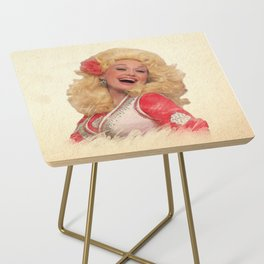 Dolly Parton - Watercolor Side Table