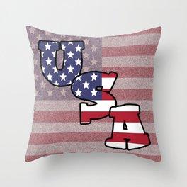 USA Stars & Stripes Throw Pillow