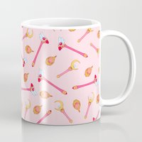 magical girl Mugs featuring Magical Girl Weapons – White by mimia