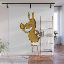 donkey with taco Wall Mural