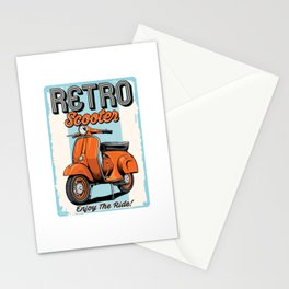 Retro Scooter Stationery Cards
