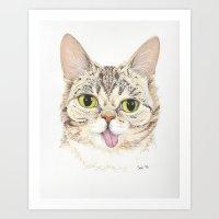lil bub Art Prints featuring Lil Bub by ItsSabbyG