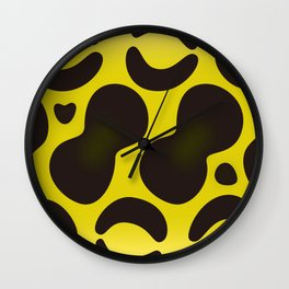 Yellow Anaconda Wall Clock