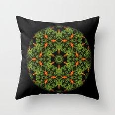 Orange Dalia Mandala #1832 Throw Pillow