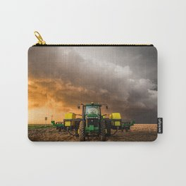 Farm Life - Tractor and Storm in Kansas Carry-All Pouch