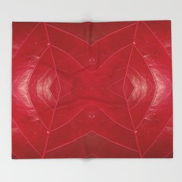 Warm Red Leatherette Throw Blanket