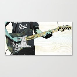 Music Piece of a Person Playing Guitar Canvas Print