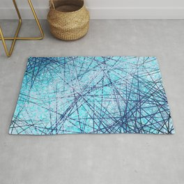 World Wide Web White & Blue Rug