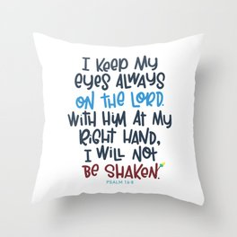 Eyes on the Lord Throw Pillow