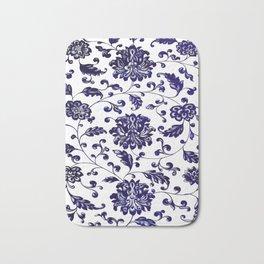 Chinese Floral Pattern Bath Mat