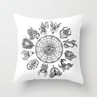 zodiac Throw Pillows featuring zodiac  by My dominance
