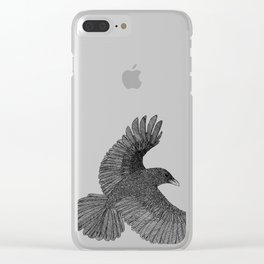 Poe Crow Clear iPhone Case