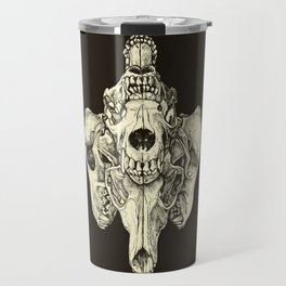 Coyote Skulls - Black and White Travel Mug