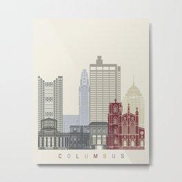 Columbus skyline poster  Metal Print