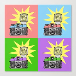 Let's warholize...and say cheese! Canvas Print
