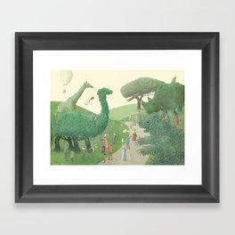 The Night Gardener - Summer Park Framed Art Print