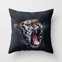 Roaring Tiger Throw Pillow