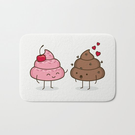 Love Sucks - Cute Doodles Bath Mat