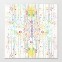 splatter Canvas Prints featuring Splatter by Tammy Kushnir