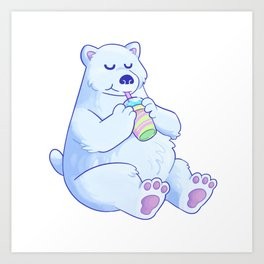 Polar Bear Slush Art Print