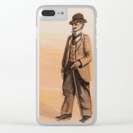 Victorian's Day at the Beach Clear iPhone Case