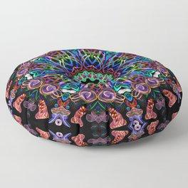 LED Hoop Mandala w/ Fire Floor Pillow