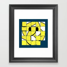 Acid Smiley Shuffle Puzzle Framed Art Print