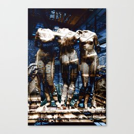 3 cyborg graces Canvas Print