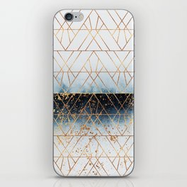 Winter Blue Geo iPhone Skin