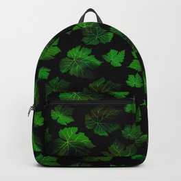 Dark vine leaves Backpack