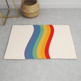 Retro Pride Flag Rug