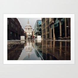 London and reflection Art Print
