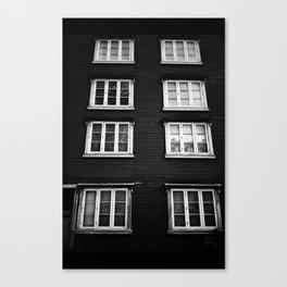 Facade in Trondheim, Norway Canvas Print