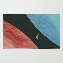 Earth collides with mars Rug