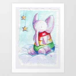 Sweet elephant Art Print