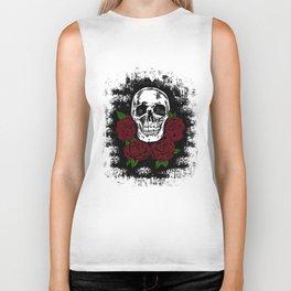Skull and Rose Biker Tank
