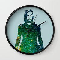 battlestar Wall Clocks featuring Starbuck Battlestar Galactica by pennyprintables