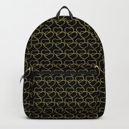 gold heart pattern small, women Backpack