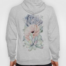 Pastel Succulents by Nature Magick Hoody