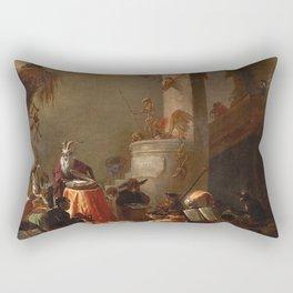 Cornelis Saftleven - College Of Animals Rectangular Pillow