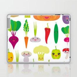 Kawaii vegetables peppers, pumpkin beets carrots, eggplant, red hot peppers, cauliflower, broccoli Laptop & iPad Skin