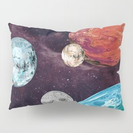 Planets and Moons Pillow Sham