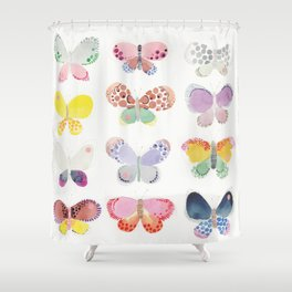 Painted butterflies Shower Curtain