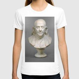 Historical Bust of Ben Franklin Photograph (1778) T-shirt