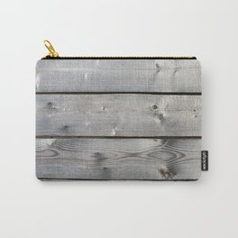 old wooden planks background Carry-All Pouch